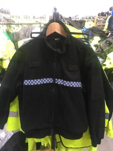 Ex Police Tornado Fleece With Chequered Reflective Strip Large