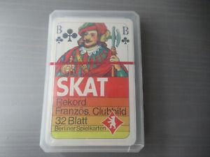 SKAT-Rekord-Franzoesisches-Clubild-32-Blatt-Berliner-Spielkarten-Kartenspiel