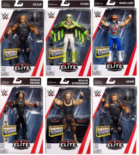 Wwe Wrestling Mattel Acción Figura Accesorios Elite Serie 62 Totalmente Nuevo Caja Wwf