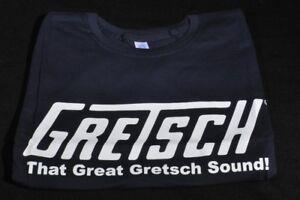 """Gretsch """"ce Grand Gretsch Sound"""" Tee Shirt S Bleu Marine-afficher Le Titre D'origine"""