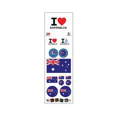 Australia Australien Canberra Auto Motorrad Fan Flagge Aufkleber Sticker Decal