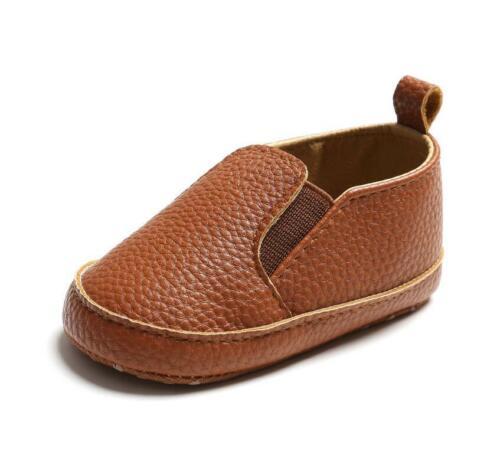 Newborn Baby Boy Girl Pram Shoes Infant Faux Leather PreWalker Shoe Casual Shoes