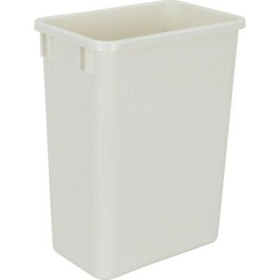 35 Quart White Plastic Waste Container Kitchen Garbage Can Trash Pale Container Ebay