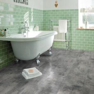 Luxury Click Vinyl Flooring Tile Metallic Grey Kitchen ...