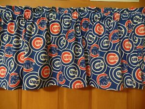 Details about MLB CHICAGO CUBS Sports Team Bedroom Curtain Valances, Royal  Blue/Red