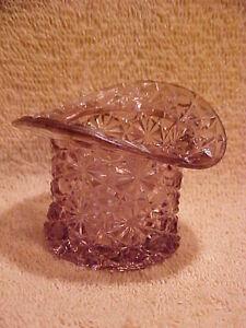 Vintage Top Hat Lavender Purple Lilac Hat Pin Trinket Holder - No Cracks