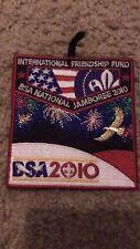 "INTERNATIONAL FRIENDSHIP FUND BSA JAMBO 2010 3.5""X 3.5"" IRON ON PATCH NICE !"
