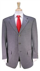 MARIO-CALDI-Solid-Gray-100-Cashmere-by-Colombo-3-Btn-Luxury-Suit-42R
