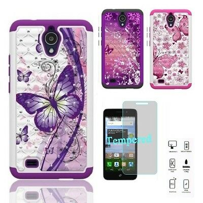 online store c41c4 6145d Phone Case for AT&T AXIA / AT&T AXIA (Cricket Vision), Crystal Cover Case +  TG | eBay