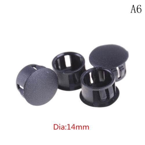 4Pcs//lot Black Plastic Round Tube Hole Plug Pipe End Cap Cover SP