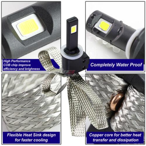 CHROME HOUSING HEADLIGHT+CORNER+6000K WHITE LED SYSTEM FIT 92-96 F150//250//350