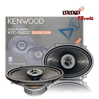 120 Watts RMS Kenwood Excelon KFC-X683C 6 x 8 Inch 2 Way Pair Of Car Speakers Totalling 360 Watts Peak