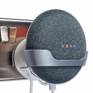 Power-Plug-Mount-for-Google-Home-Mini-Google-Home-Mini-Bracket-Full-Silver