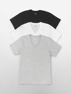 Three (3) Pack Calvin Klein Men's Stretch Cotton V-Neck or Crew Neck T-Shirt