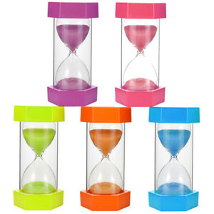 Details about Sand Clock THICKEN GLASS 5/10/15/20/30/60 Minutes Hourglass  Timer for Kids Child
