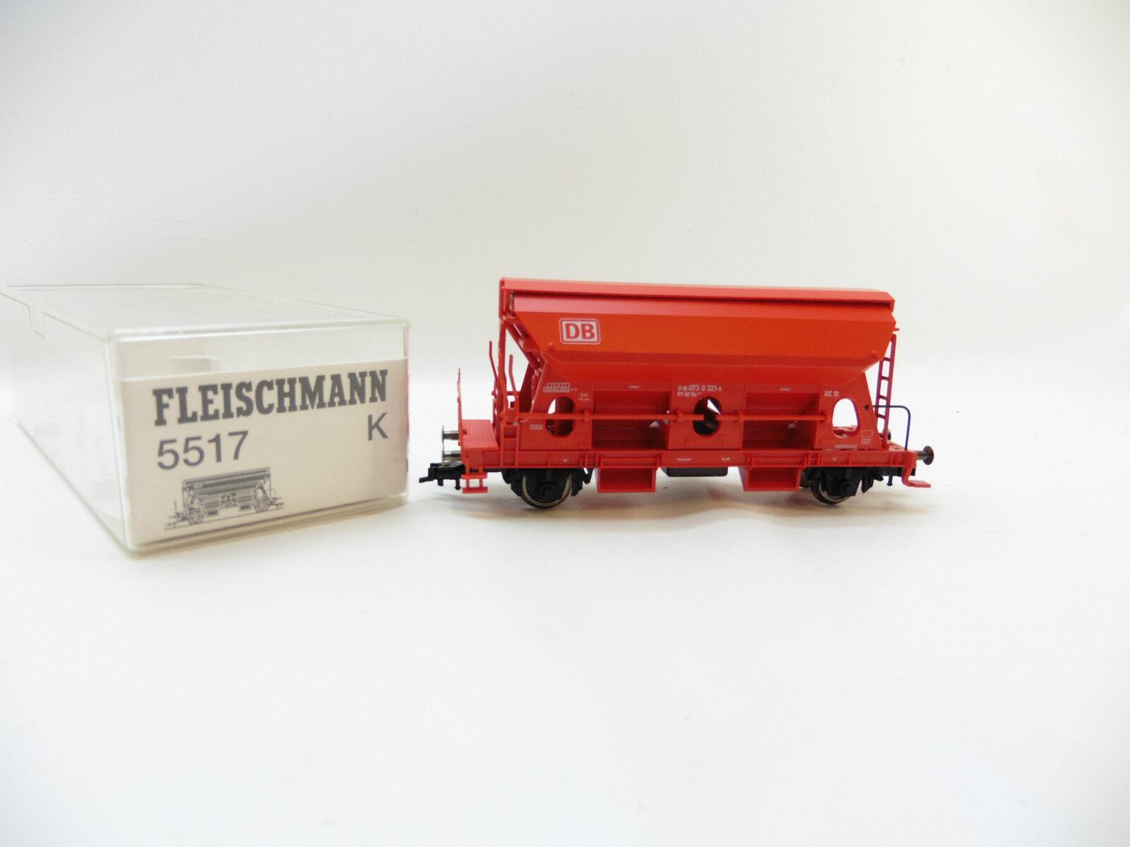 LOT 50867   Schöner Fleischmann H0 5517 Selbstentladewagen red der DB in OVP