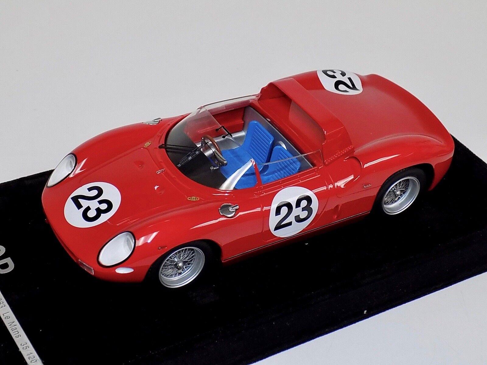 1 18 AB MODELS FERRARI 250 P Voiture  23 1963 LeMans limité à  120 pièces F9