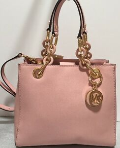 4c68ee566162d NWT Michael Kors Cynthia Small Saffiano Leather NS Satchel Pastel ...