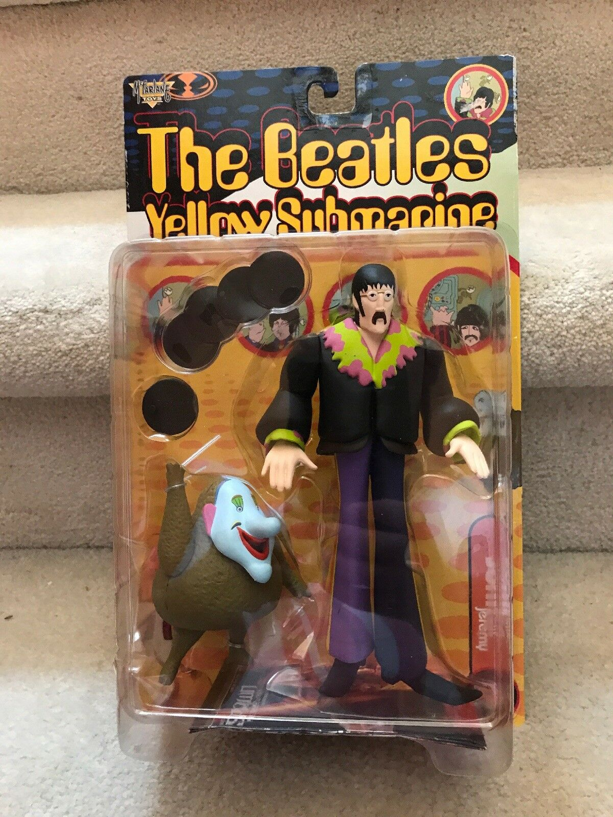 The Beatles giallo Submarine JOHN LENNON with Jeremy 8  Action Figure 1999
