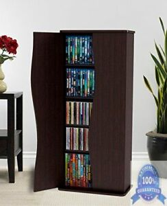 Image is loading DVD-Blu-Ray-Media-Cabinet-Storage-VHS-CD- & DVD Blu Ray Media Cabinet Storage VHS CD Adjustable Shelf Organizer ...