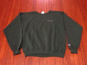 4d0dcc8908505 Men s VTG 90 s Champion Script Logo Forest Green Sweatshirt sz L