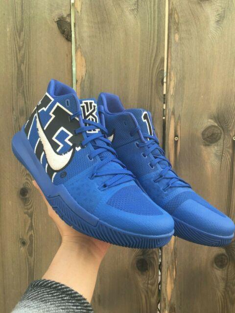 quality design f76a3 8641e Nike Kyrie 3 Duke 922027-001 Size 14 Game Royal Black EYBL Academy Pre-owned