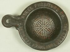 RUBEL FURNITURE CO METAL ADVERTISING TEA STRAINER TIN