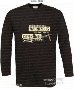 T-Shirt-Reicht-mir-das-Werkzeug-Mopedjungs-Simson-MZ-Oldtimer-Trabant-Wartburg