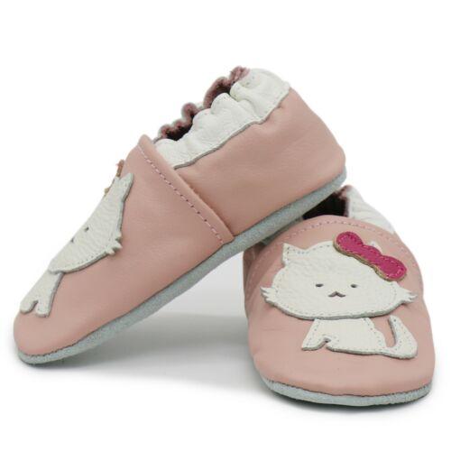 Carozoo chat rose 2-3y Semelle Souple Cuir Bébé Chaussures