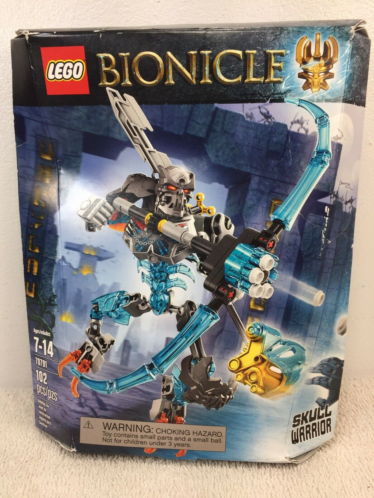 Lego 70791 Bionicle Skull Warrior 102 Pcs New Retired Minor Box Damage 2015