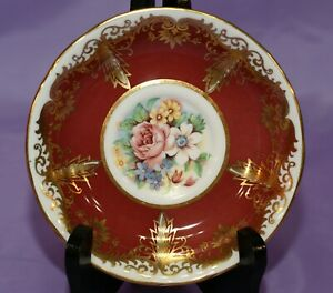 Paragon-English-Bone-China-Orphan-Saucer-with-Mixed-Flowers-Tea-Coffee