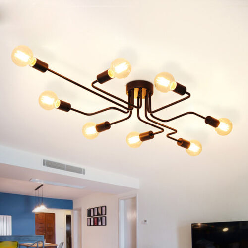 4//8 Way Antique Style Ceiling Lights Modern Dining Room Decor Metal Pendant Lamp