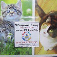 Flea Pills Capsules 12mg .Cats  2lbs.-25lbs.(3 Pack )+1 FREE SALE $5.99