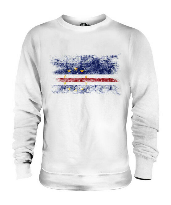 CAPE VERDE DISTRESSED FLAG UNISEX SWEATER TOP CABO VERDE CAPE VERDEAN GIFT SHIRT