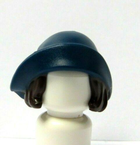 LEGO 1 figurine figure brun perruque de cheveux /& Dark Blue Hat pour Femme Fille