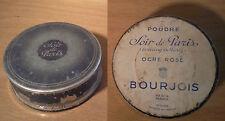 ancienne boite à poudre Soir de PARIS ocre rosé BOURJOIS parfum milieu XX ème