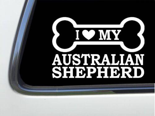 """ThatLilCabin I LOVE MY AUSTRALIAN SHEPHERD 8/"""" AS595 car sticker decal"""