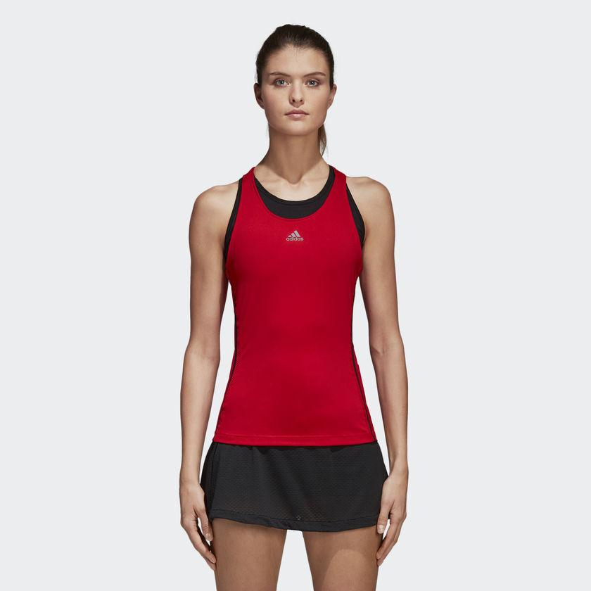Adidas Wmns Barricade Tank Top Femme Noir Rouge CE1450