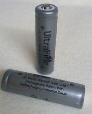 4x ULTRAFIRE 14500 Lithium Ionen Akku 3,6 Volt geschützt mit PCB, AA R6 Mignon