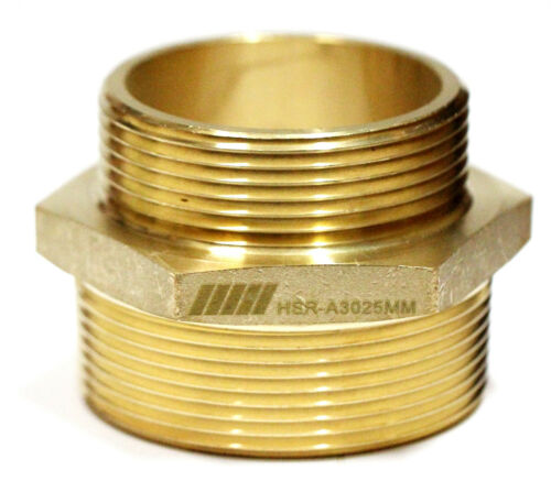 """NNI Fire Hose Hydrant Hexagon Male Adapter 3/"""" Male NPT x 2-1//2/"""" Male NST NH"""