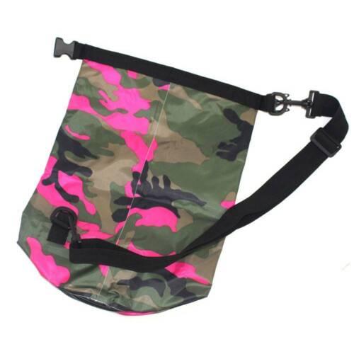 1X 2//5//10//15//20L Outdoor Camouflage Rafting Diving Dry Bags Sack PVC Waterproof