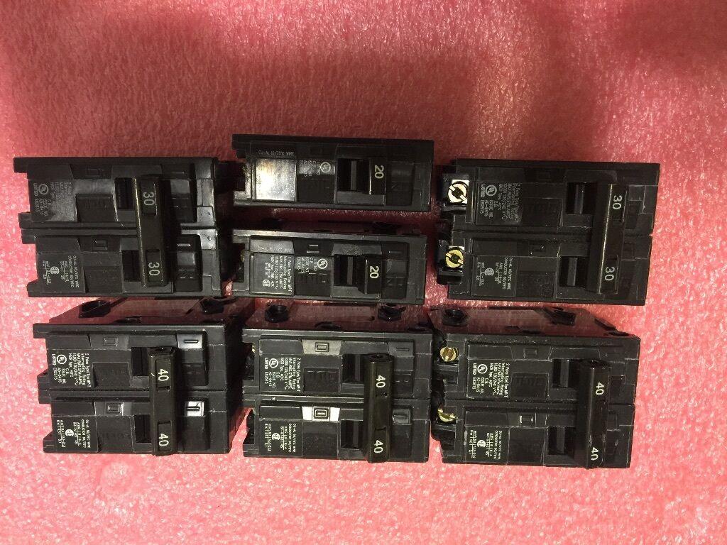 Lote de 7 interruptores de Murray 20A, 30A, 30A, 30A, 40A, Excelente Estado e30d65