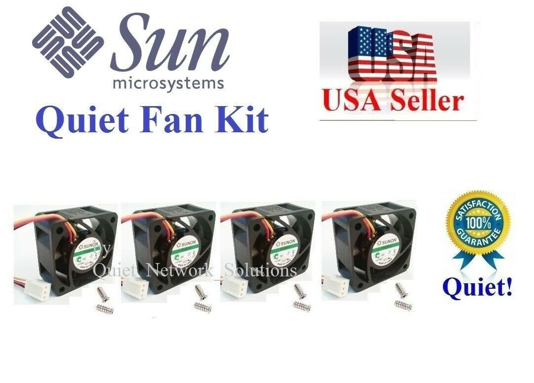 Lot 4x new QUIET version replacement fans for Sun FIRE X7418A V210 V125