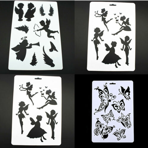 DIY Craft Angel Layering Stencils For Walls Painting Scrapbooking Stamps Album