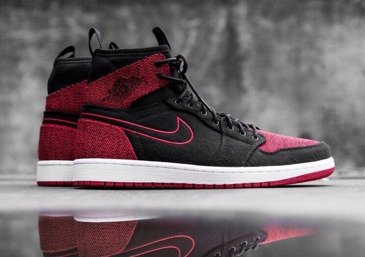 Nike Air Jordan 1 Ultra High Retro 15 Bred Banned Black Red Flyknit 844700-001