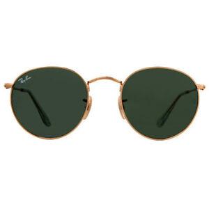 89f082ee19 Ray Ban 3447 Round Metal UK RAYBAN Sunglasses Unisex 100 UV 01 Gold ...