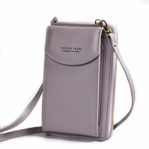 Women/'s Long Clutch Large Capacity Mobile Wallet Zipper Shoulder Crossbody Bag