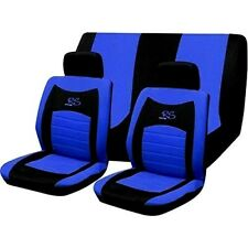 UKB4C Blue Full Set Front /& Rear Car Seat Covers