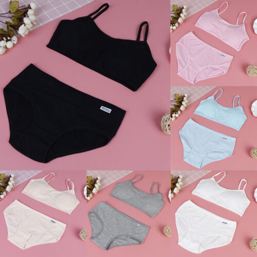 1set young girl training bras puberty children sport underwear student v lx