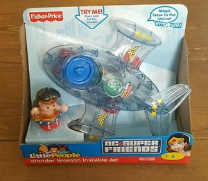 Fisher Price Little People Univers Dc Super Friends Wonder Femme Jet Invisible